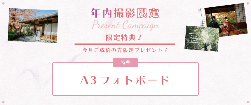 年内撮影限定キャンペーン!