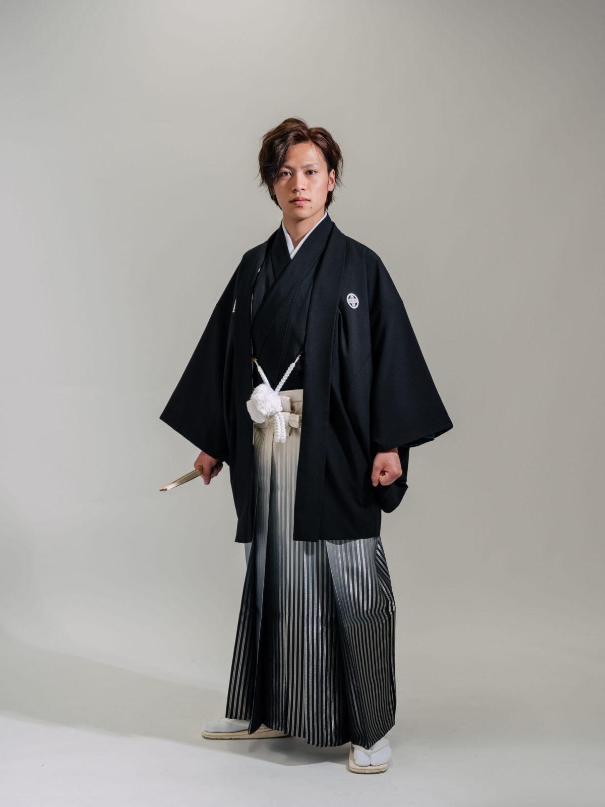 紋付袴(黒)001