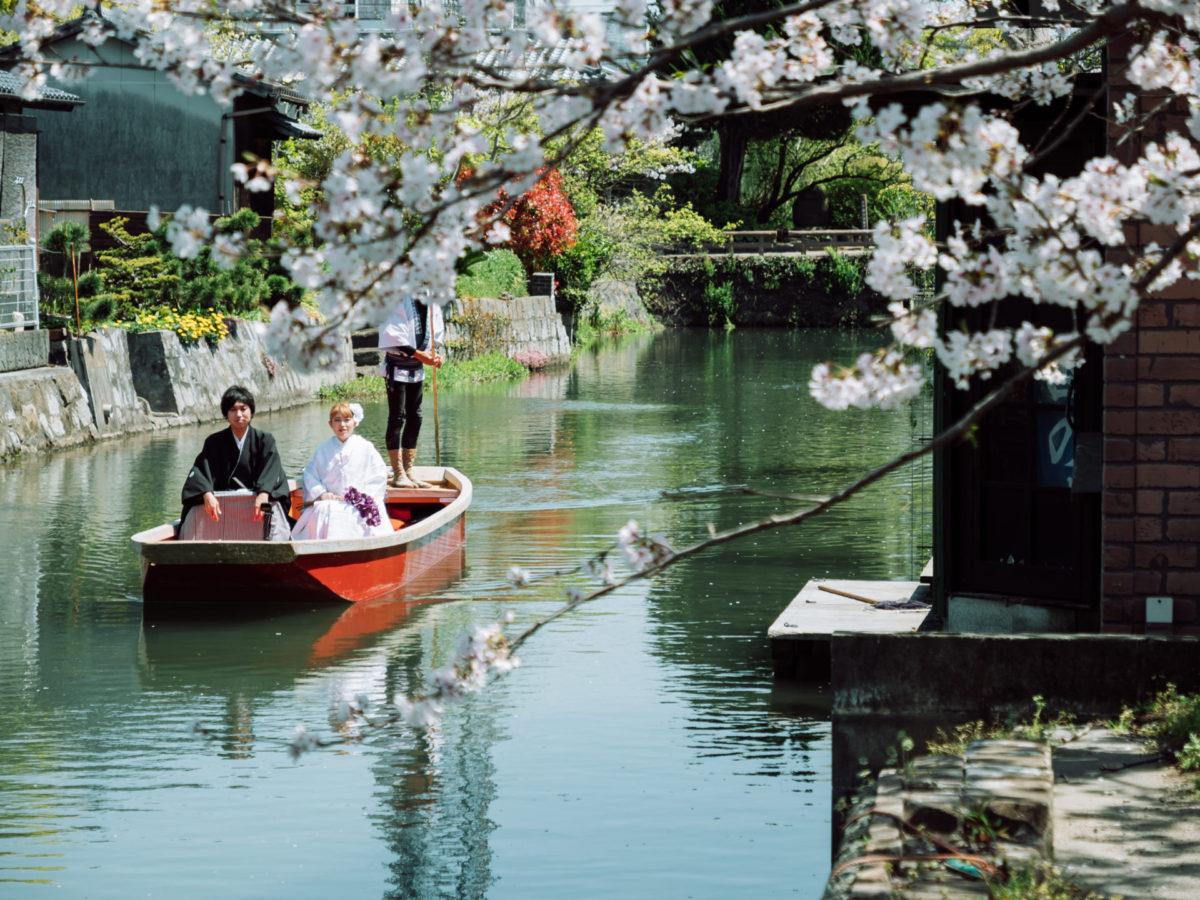 柳川(川下り)|フォトウェディング・前撮りに人気のロケーションスポット|福岡・九州でフォトウェディング・前撮りならウェディングセレクト!フォトウェディング