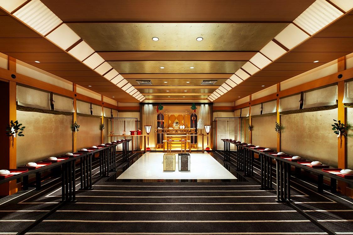 ホテルニューオータニ博多 神殿|1.5次会・会費制・少人数お食事会・パーティなどのオススメ会場|福岡・九州で和装の神社結婚式・和婚ならウェディングセレクト!和婚