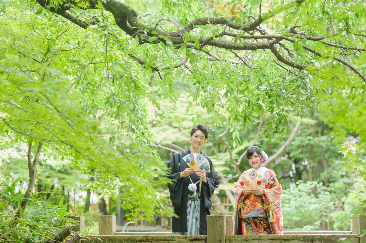 楽水園|フォトウェディング・前撮りに人気のロケーションスポット|福岡・九州でフォトウェディング・前撮りならウェディングセレクト!フォトウェディング