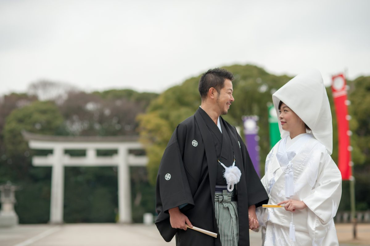 ~福岡縣護国神社~神前結婚式①||福岡・九州で和装の神社結婚式・和婚ならウェディングセレクト!和婚