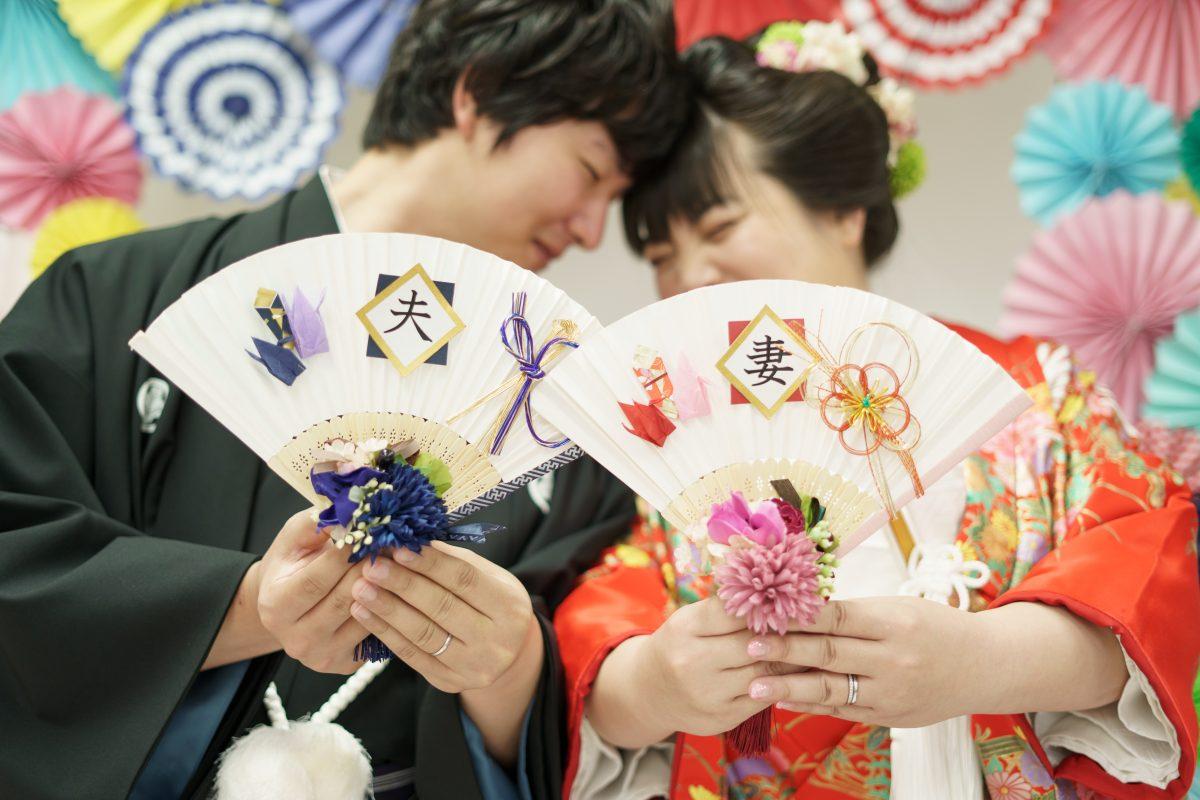和装スタジオ撮影|お客様レポート|福岡・九州でフォトウェディング・前撮りならウェディングセレクト!フォトウェディング