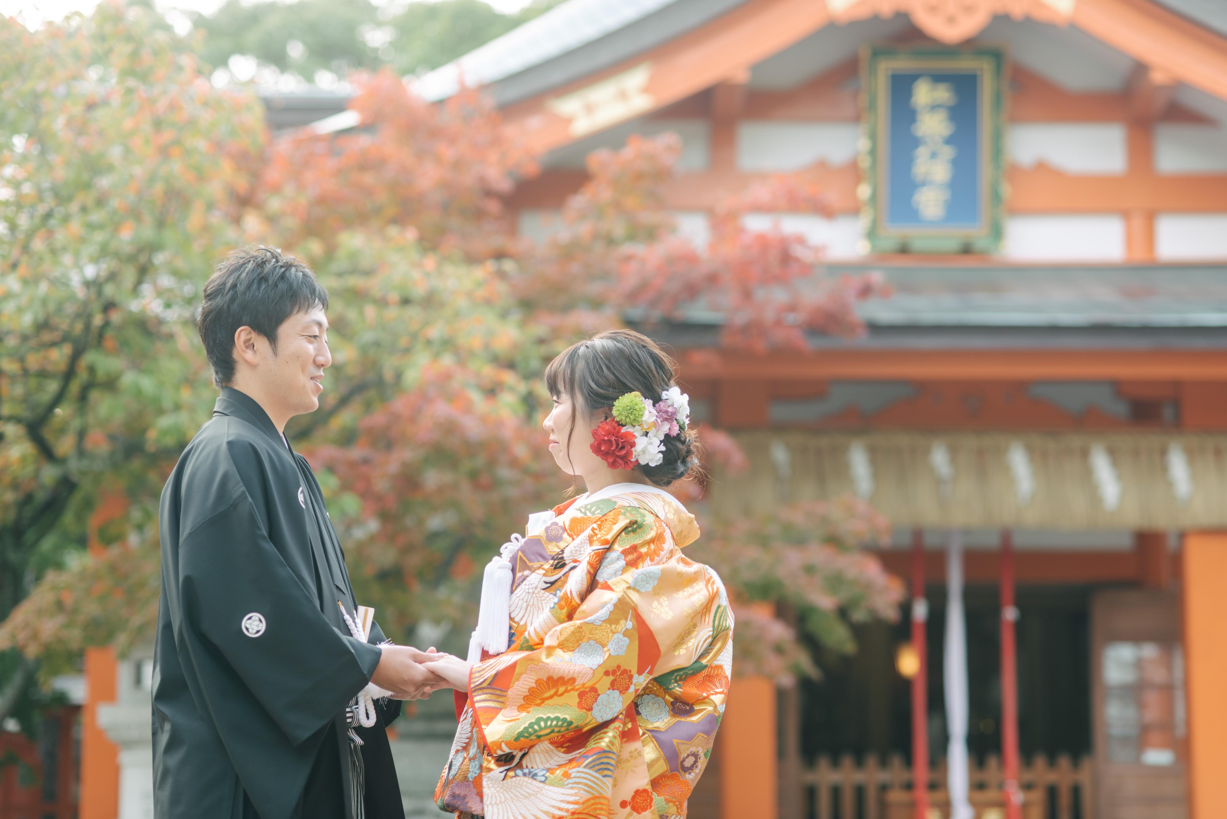 紅葉八幡宮|フォトウェディング・前撮りに人気のロケーションスポット|福岡・九州でフォトウェディング・前撮りならウェディングセレクト!フォトウェディング