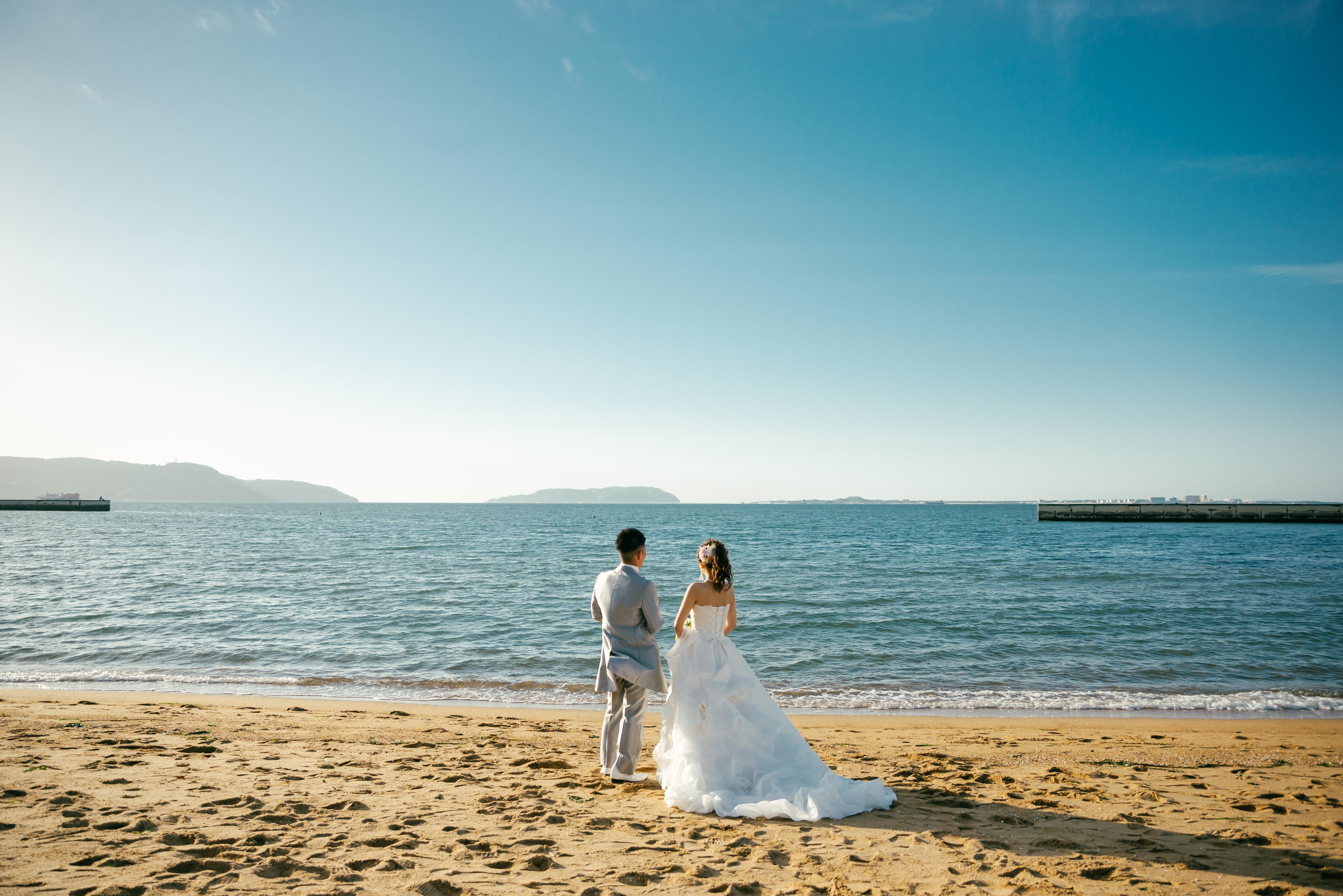 シーサイドももち海浜公園|フォトウェディング・前撮りに人気のロケーションスポット|福岡・九州でフォトウェディング・前撮りならウェディングセレクト!フォトウェディング