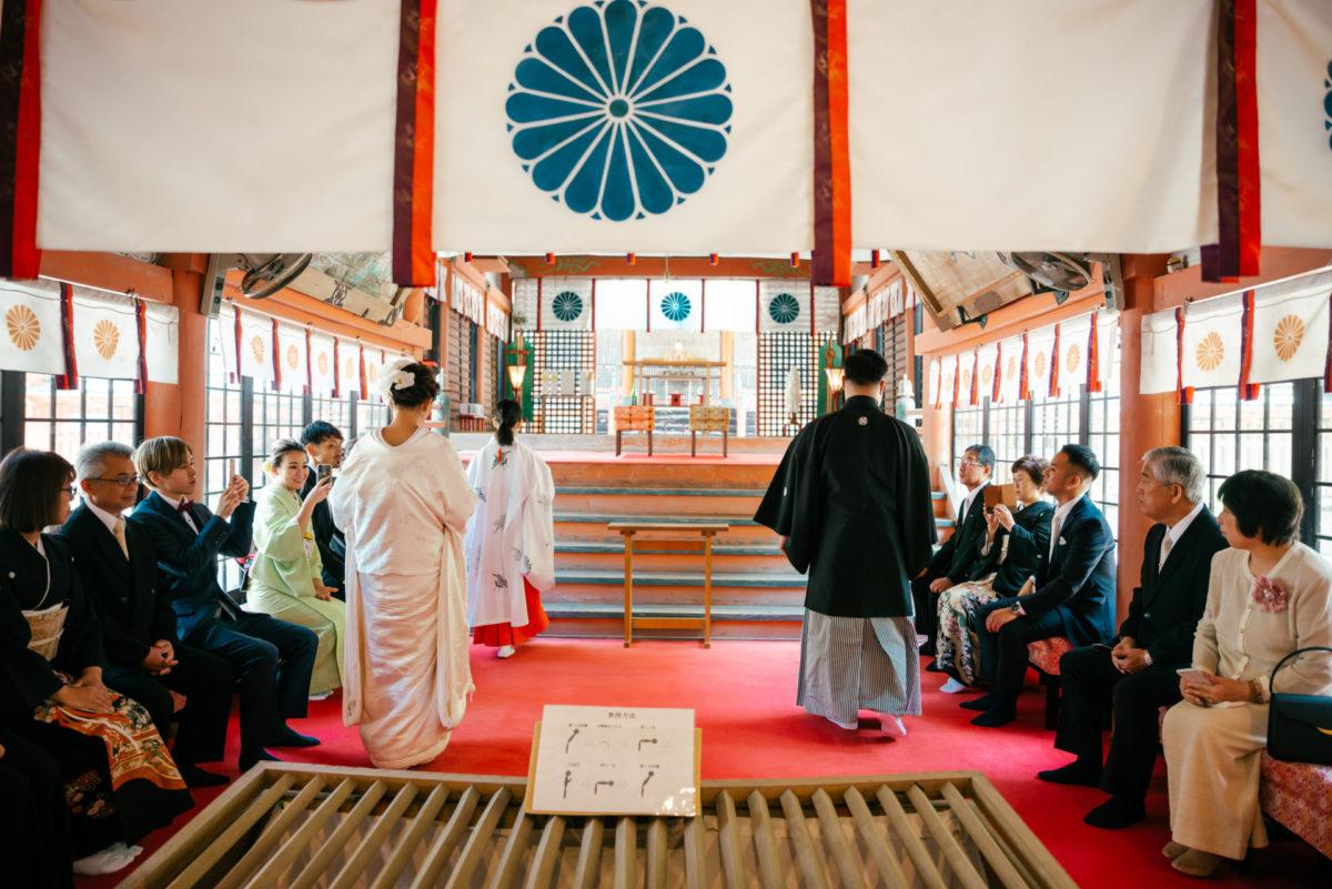 ~柞原八幡宮~神前結婚式|お客様レポート|福岡・九州で和装の神社結婚式・和婚ならウェディングセレクト!和婚
