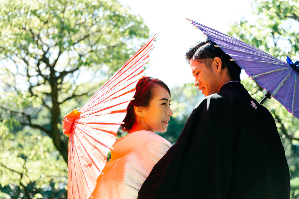 ~大濠日本庭園・志賀島~和洋ロケーションフォト|お客様レポート|福岡・九州で和装の神社結婚式・和婚ならウェディングセレクト!和婚