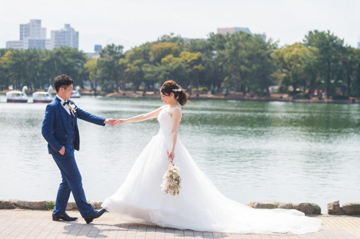 ~松風園・大濠公園~和洋ロケーションフォト|お客様レポート|福岡・九州で和装の神社結婚式・和婚ならウェディングセレクト!和婚
