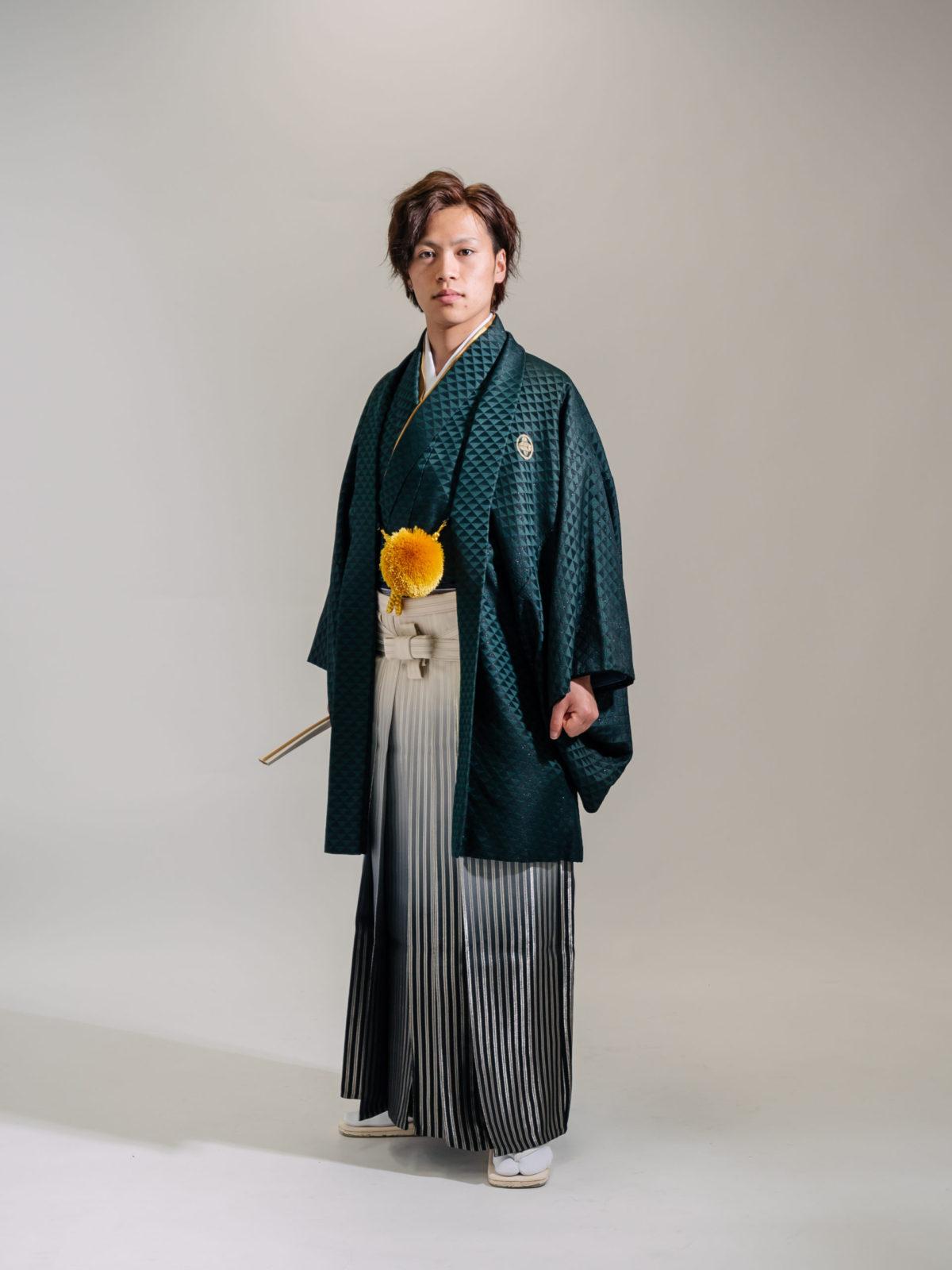 紋付袴(緑)004