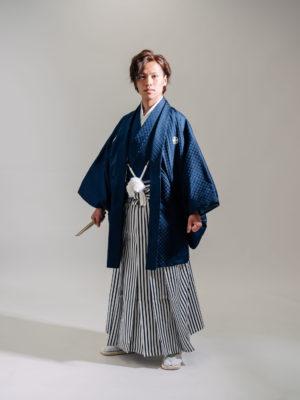 紋付袴(紺)003