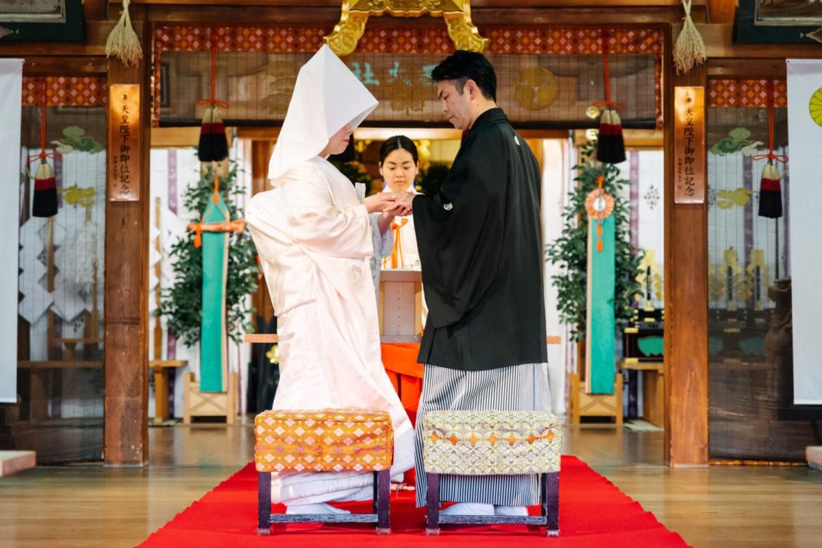 ~諏訪神社・料亭一力(長崎)~神前結婚式|お客様レポート|福岡・九州でフォトウェディング・前撮りならウェディングセレクト!フォトウェディング