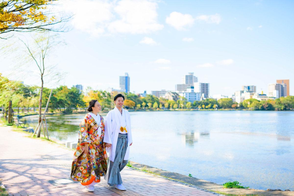 大濠公園|フォトウェディング・前撮りに人気のロケーションスポット|福岡・九州でフォトウェディング・前撮りならウェディングセレクト!フォトウェディング