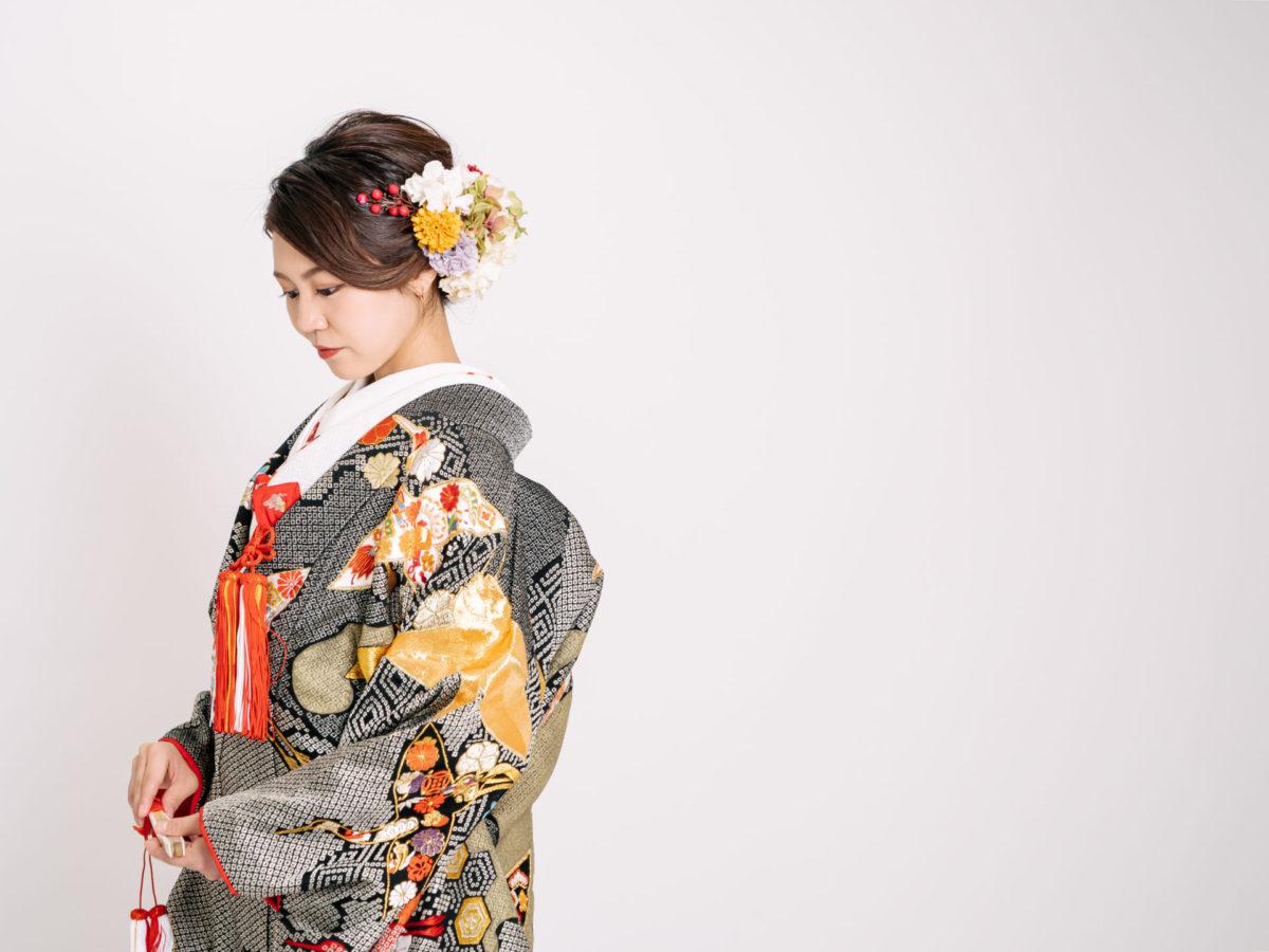 亀甲紋に華鶴051