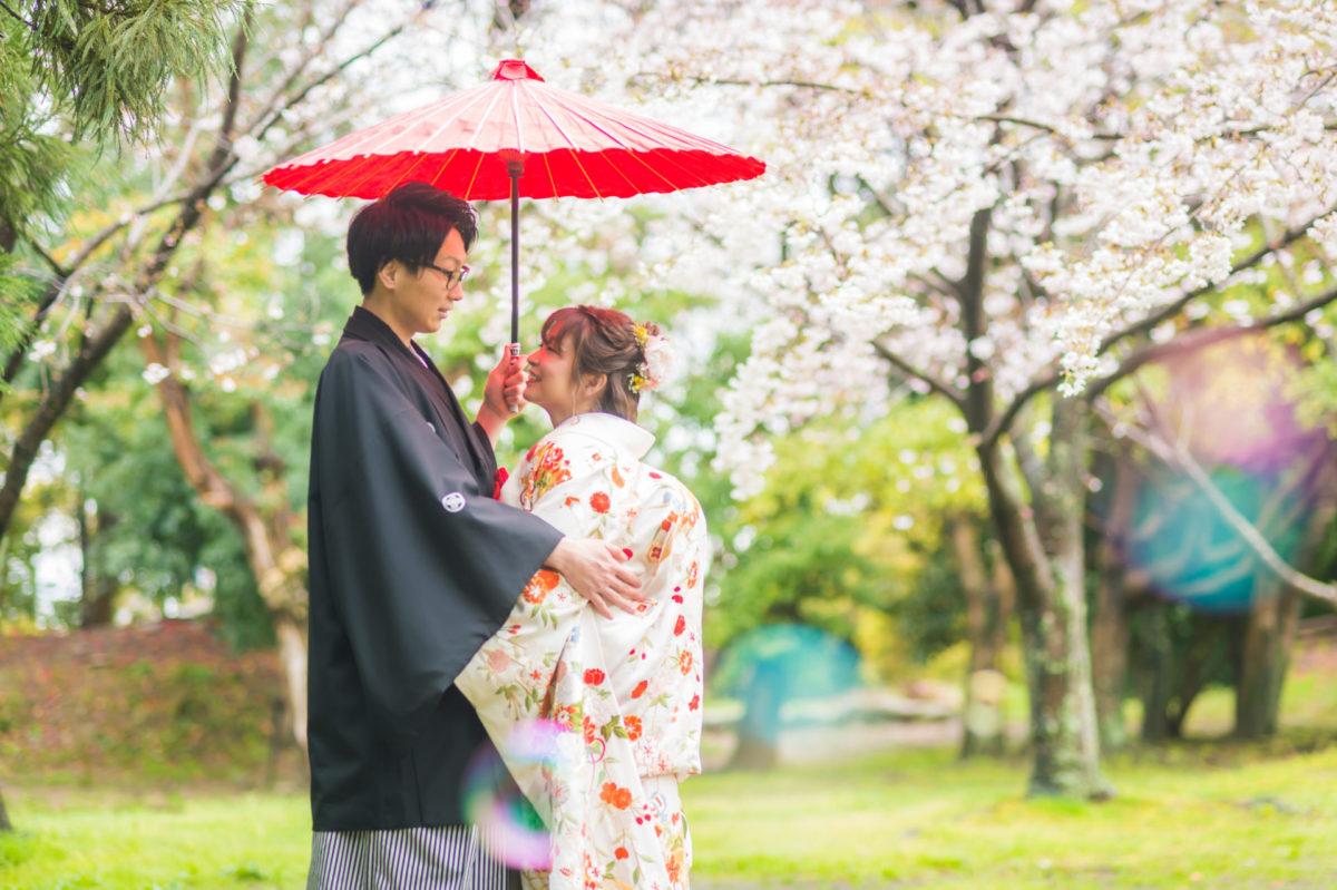 ~舞鶴公園~ロケーションフォト|お客様レポート|福岡・九州で和装の神社結婚式・和婚ならウェディングセレクト!和婚