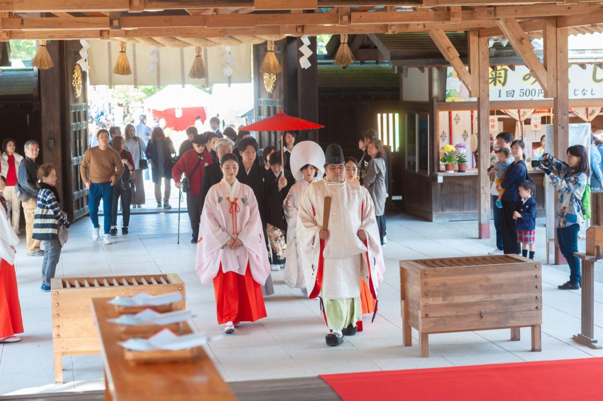 ~宗像大社~神前結婚式|お客様レポート|福岡・九州でフォトウェディング・前撮りならウェディングセレクト!フォトウェディング