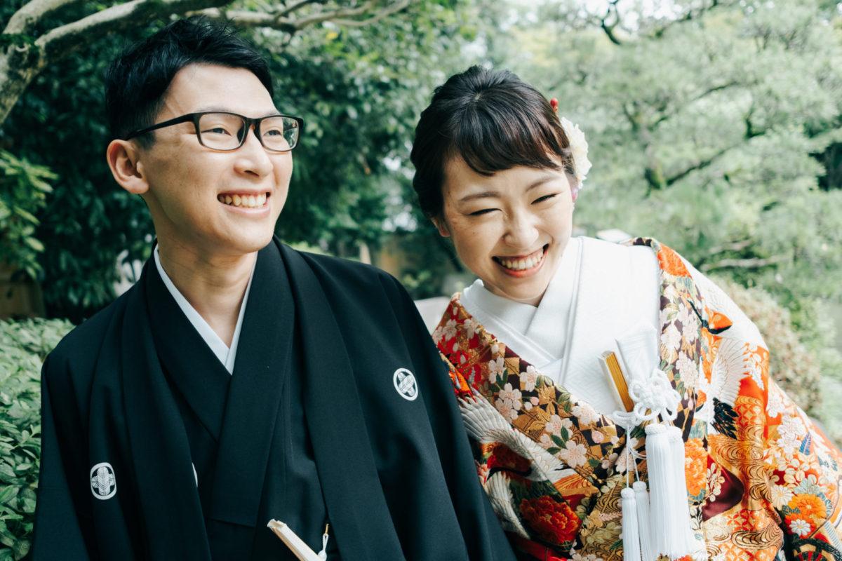 ~友泉亭~和装ロケーション撮影|お客様レポート|福岡・九州で和装の神社結婚式・和婚ならウェディングセレクト!和婚