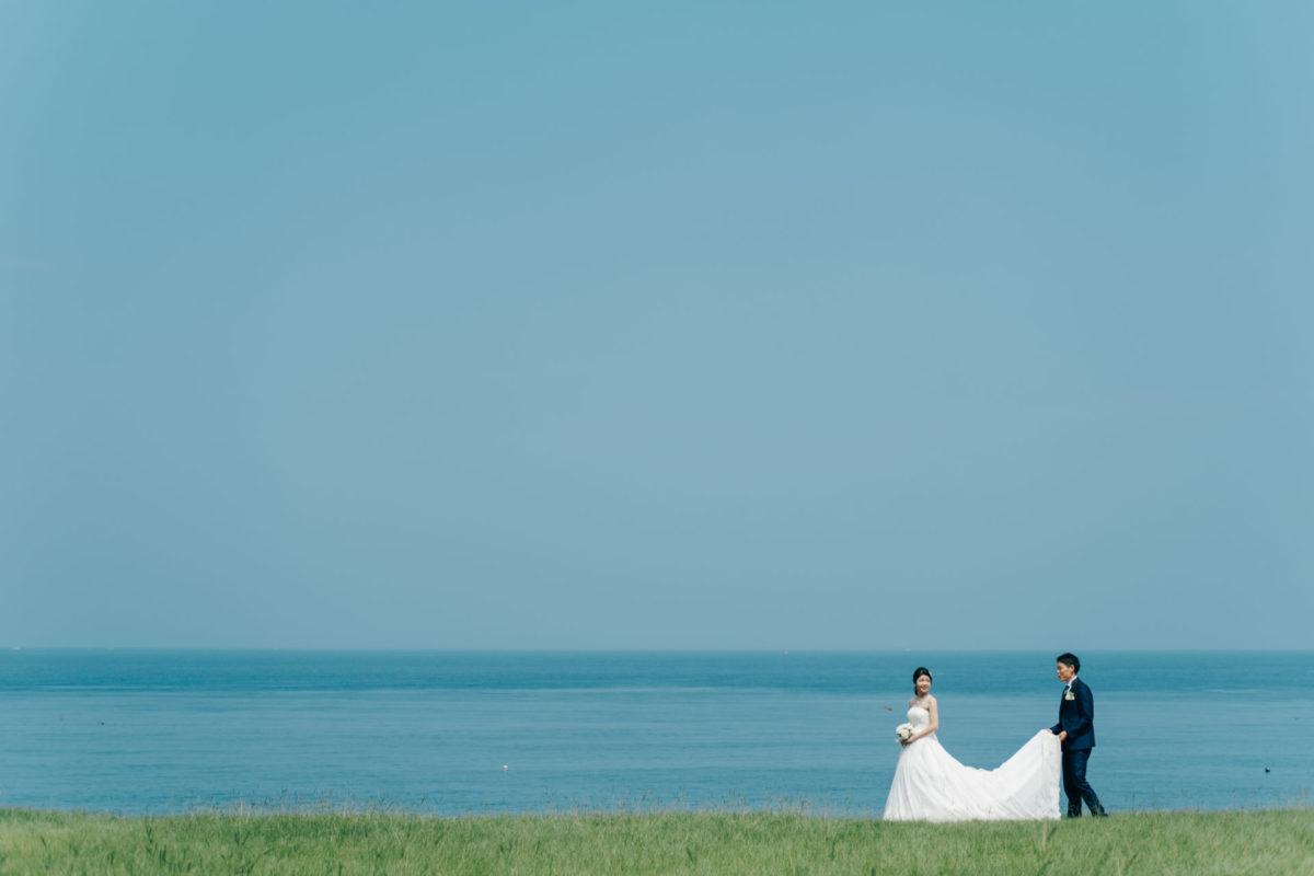 ~志賀島~洋装ロケーション|お客様レポート|福岡・九州で和装の神社結婚式・和婚ならウェディングセレクト!和婚