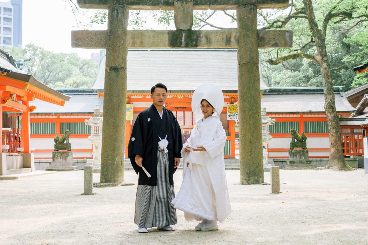 ~住吉神社・サラマンジェ ドゥ ミヤモト~|お客様レポート|福岡・九州で和装の神社結婚式・和婚ならウェディングセレクト!和婚