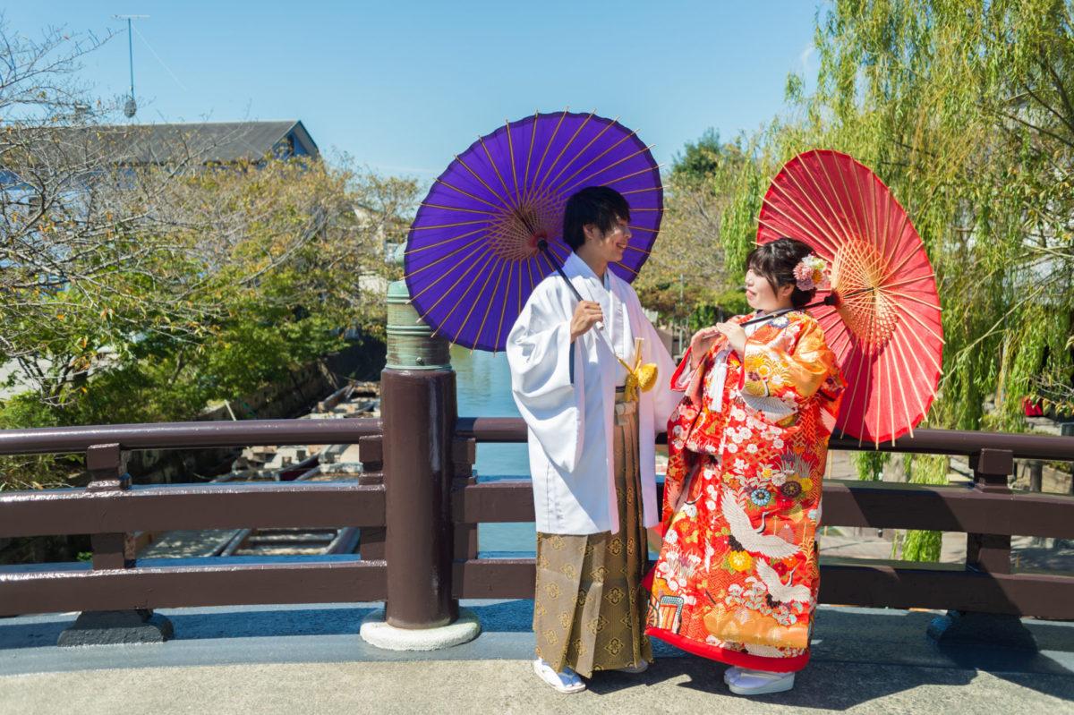 ロケーションフォト(柳川&海の中道公園&ももち浜)|お客様レポート|福岡・九州で和装の神社結婚式・和婚ならウェディングセレクト!和婚