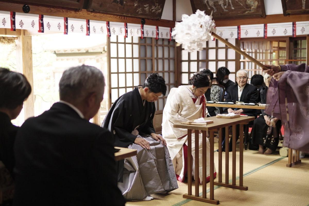 富松神社 挙式(長崎)|お客様レポート|福岡・九州で1.5次会・会費制パーティならウェディングセレクト!1.5次会