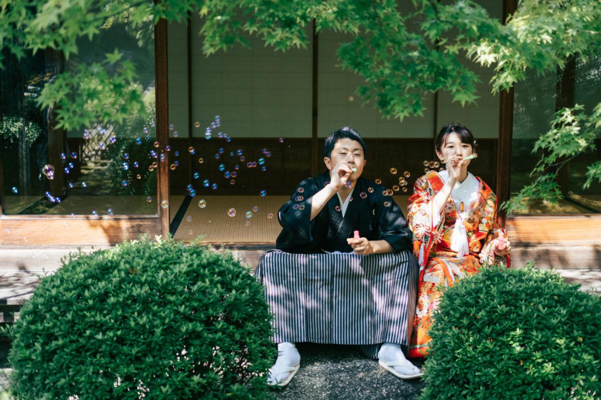 植物園&大濠日本庭園|お客様レポート|福岡・九州で和装の神社結婚式・和婚ならウェディングセレクト!和婚