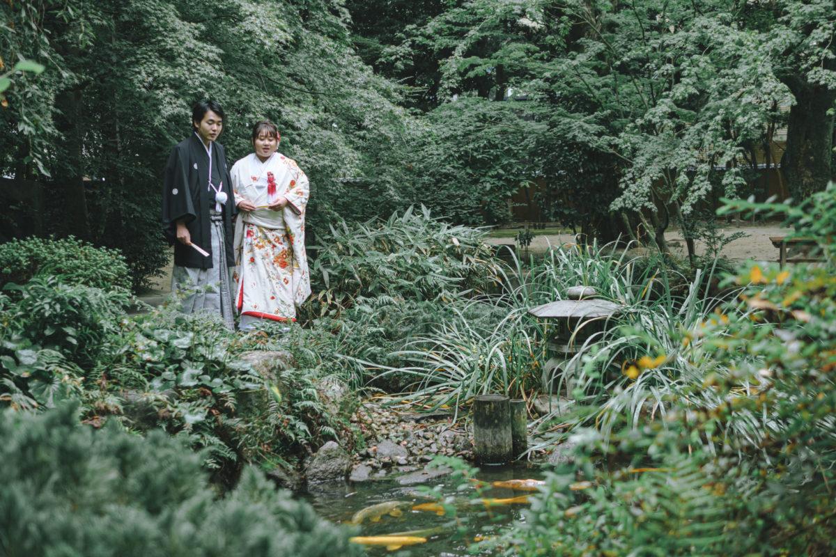 楽水園|紋付袴・タキシードの格安レンタル|福岡・九州で和装の神社結婚式・和婚ならウェディングセレクト!和婚