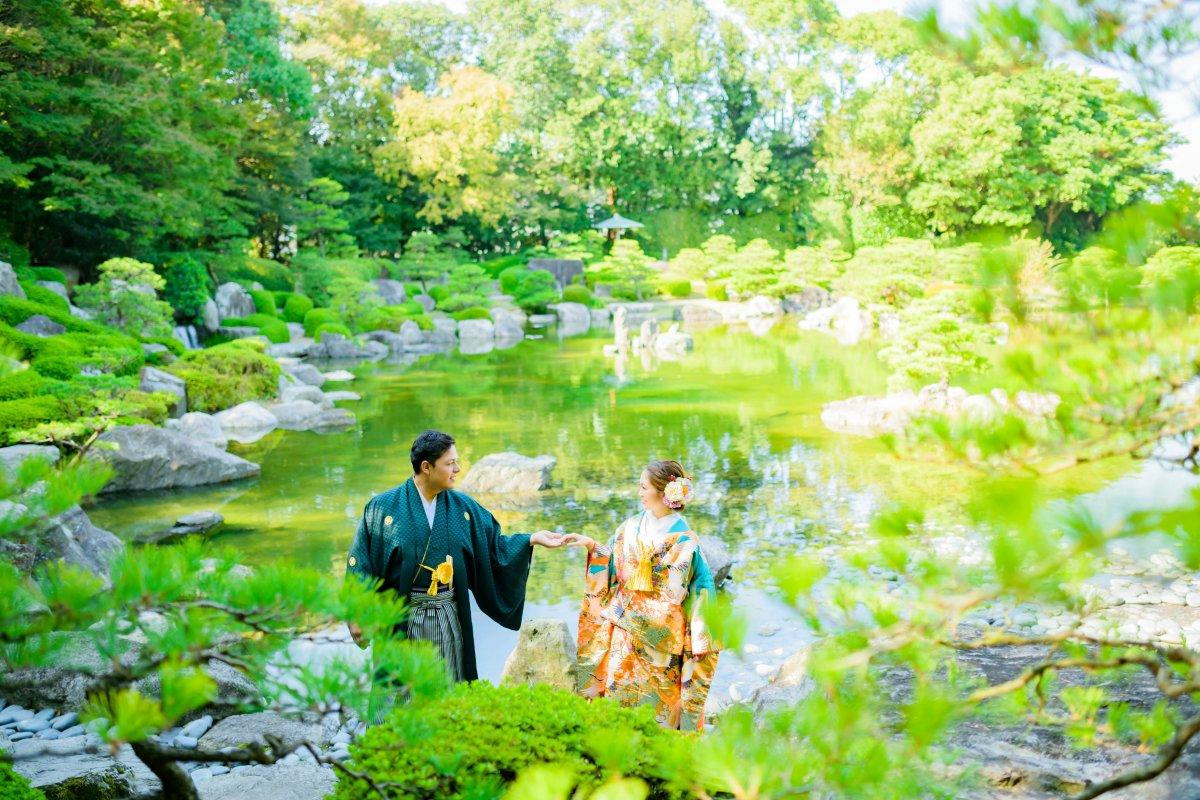 大濠日本庭園|お客様レポート|福岡・九州でフォトウェディング・前撮りならウェディングセレクト!フォトウェディング